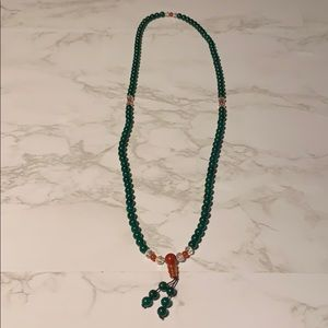 Dark Jade Beaded Necklace